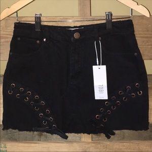 Tobi Denim Black Skirt